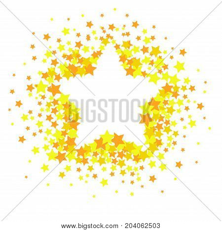 Vector star confetti splash isolated on white background. Pattern with small stars. Modern Creative Pattern. Vector image, EPS10.