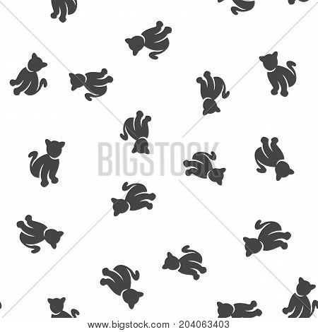 Cat seamless pattern. Vector illustration for backgrounds poster