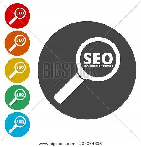 Searching engine optimization design, Seo icon, simple vector icon