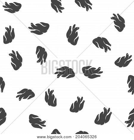 Anatomical heart seamless pattern. Vector illustration for backgrounds