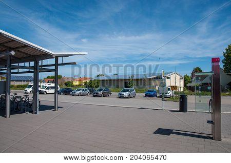 Burg Train Station In Germany