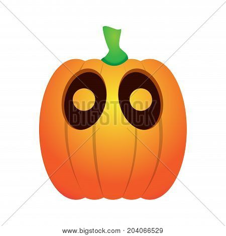 Isolated surprised jack-o-lantern on a white background, Vector illustration