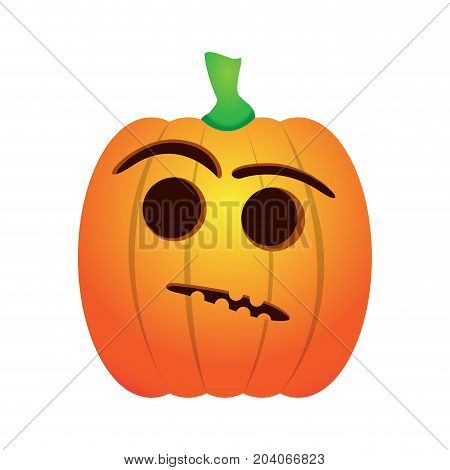 Isolated doubt jack-o-lantern on a white background, Vector illustration