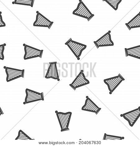 Harp seamless pattern. Vector illustration for backgrounds