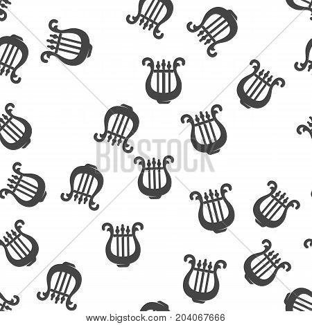 Harp seamless pattern. Vector illustration for backgrounds