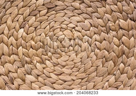 Brown Rattan Background Texture Surface