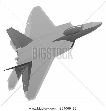 Modern military fighter jet aircraft vector illustration