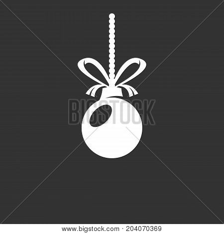 Christmas ball icon isolated on black background. Christmas ball vector logo. Flat design style. Modern vector pictogram for web graphics - stock vector