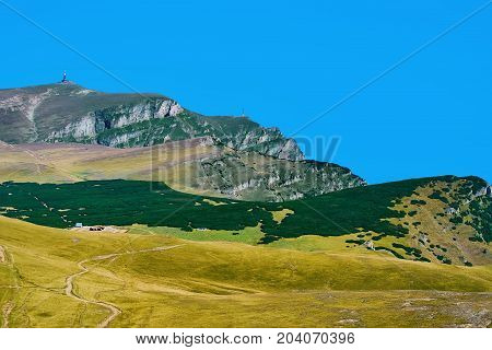 Caraiman Peak in the Bucegi Mountains Romania