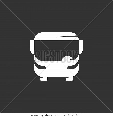 Bus icon isolated on black background. Bus vector logo. Flat design style. Modern vector pictogram for web graphics - stock vector