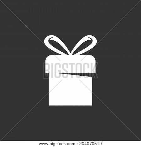 Christmas Gift icon isolated on black background. Christmas Gift vector logo. Flat design style. Modern vector pictogram for web graphics - stock vector