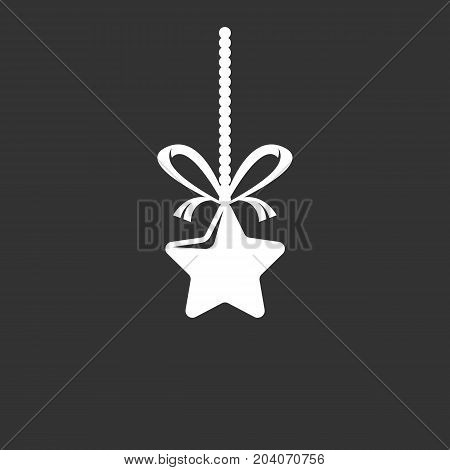 Christmas star icon isolated on black background. Christmas star vector logo. Flat design style. Modern vector pictogram for web graphics - stock vector