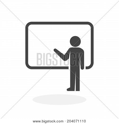 Presentation icon isolated on white background. Presentation vector logo. Flat design style. Modern vector pictogram for web graphics - stock vector