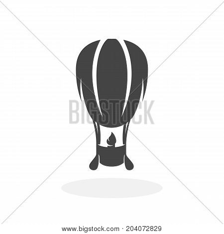 Air balloon icon isolated on white background. Air balloon vector logo. Flat design style. Modern vector pictogram for web graphics - stock vector