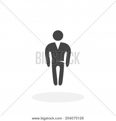 Man icon isolated on white background. Man vector logo. Flat design style. Modern vector pictogram for web graphics - stock vector
