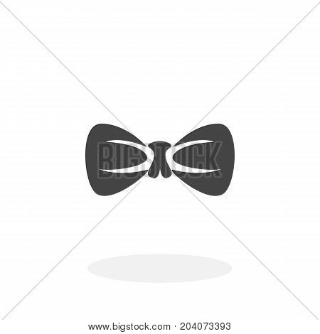Bow tie icon isolated on white background. Bow tie vector logo. Flat design style. Modern vector pictogram for web graphics - stock vector