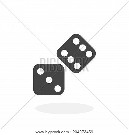 Dice icon isolated on white background. Dice vector logo. Flat design style. Modern vector pictogram for web graphics - stock vector