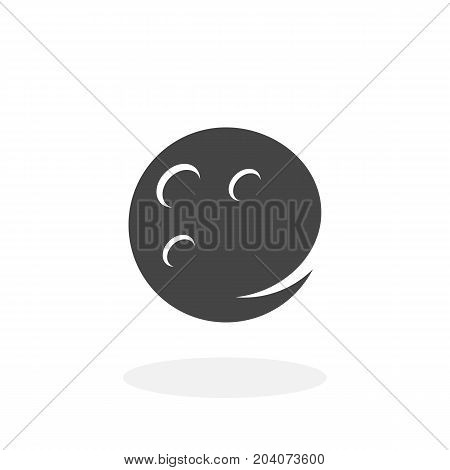 Moon icon isolated on white background. Moon vector logo. Flat design style. Modern vector pictogram for web graphics - stock vector