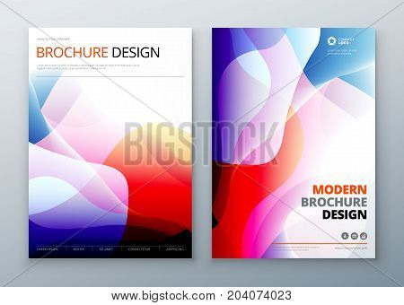 Brochure Cover set. Template for brochure, banner, plackard, poster, report, catalog, magazine, flyer etc. Modern liquid or fluid abstract background.