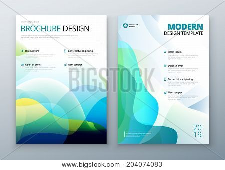 Liquid Cover set. Template for brochure, banner, plackard, poster, report, catalog, magazine, flyer etc. Modern liquid or fluid abstract background.
