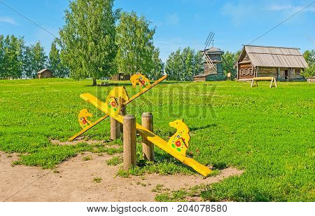 The Horse Seesaws In Suzdal