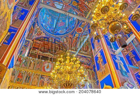 In Nativity Cathedral Of Suzdal Kremlin