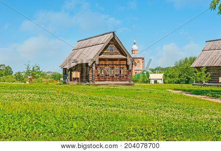 The Wooden Izba In Suzdal