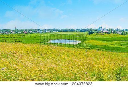 The Beauty Of Ilinskiy Meadow In Suzdal