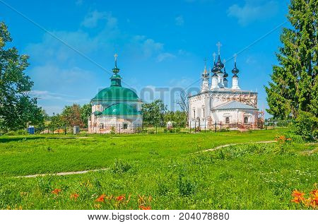 The Churches On Green Meadow In Suzdal