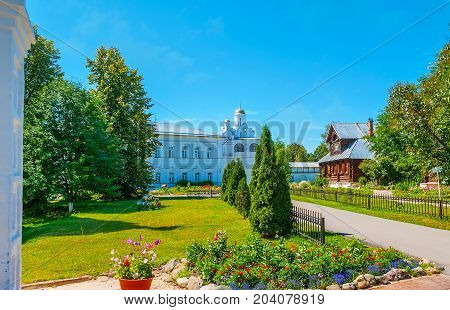 The Picturesque Suzdal Intercession Monastery In Russia
