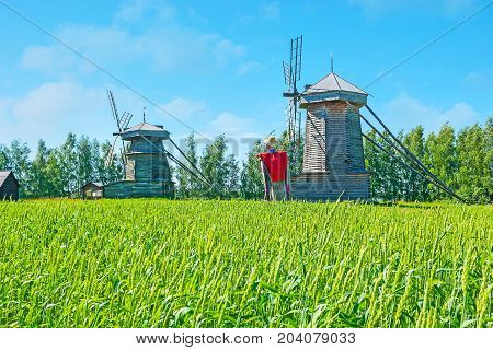 The Windmills In Suzdal Wooden Architecture Museum