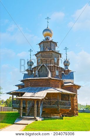 The Russian Wooden Church In Suzdal Museum