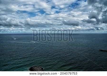 Sea Or Ocean With Blue Water In Fort Lauderdale, Usa