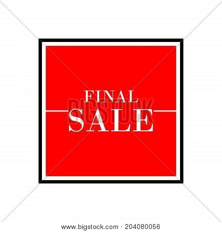 Final Sale Red Square Abstract Banner Vector Background. Fashion Square Banner. Great Christmas, Sea