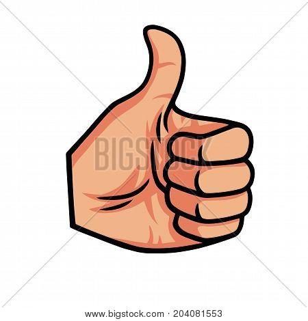Thumb Up Vector Icon Illustration Template Okay