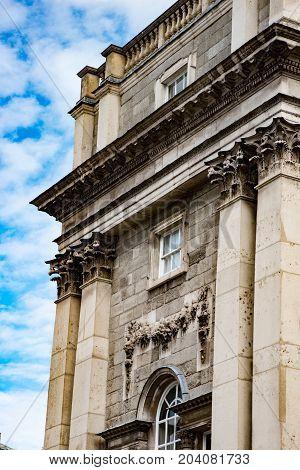DUBLIN, IRELAND - AUGUST 30, 2017: View of City of Dublin Ireland