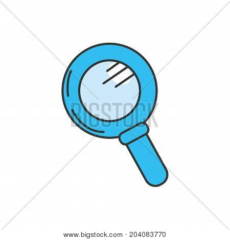 magnifying glass tool to explore vector illustation