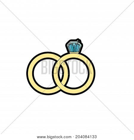 wedding ring to symbolic the love vector illustration