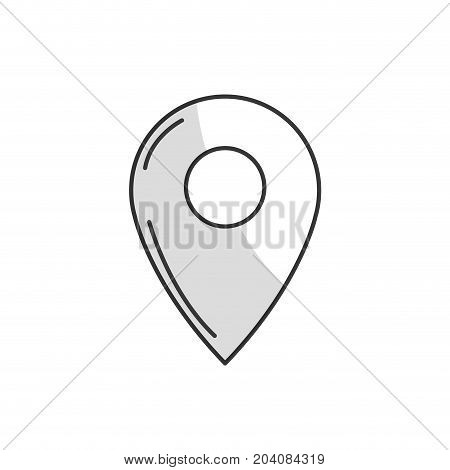 line symbol ubication to explore map location vector illustration