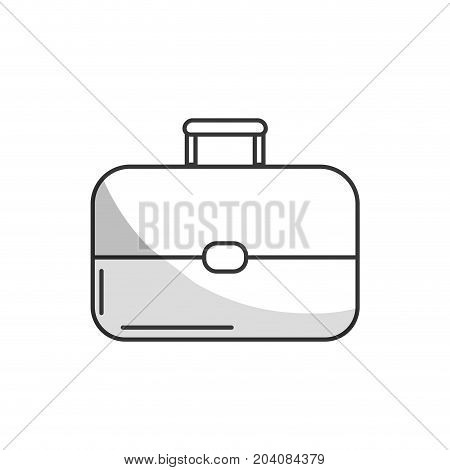 line business suitcase to save important document vector illustration