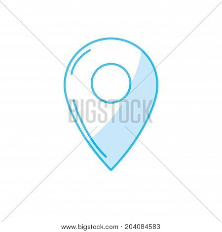 silhouette symbol ubication to explore map location vector illustration