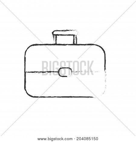 figure business suitcase to save important document vector illustration