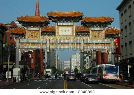 Chinatown Gate In Washington Dc