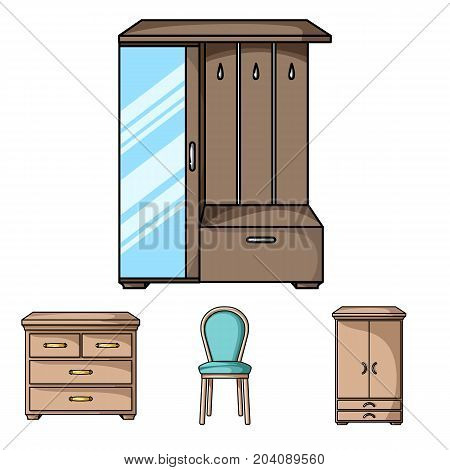 Armchair, cabinet, bedside, table .Furniture and home interiorset collection icons in cartoon style vector symbol stock illustration .