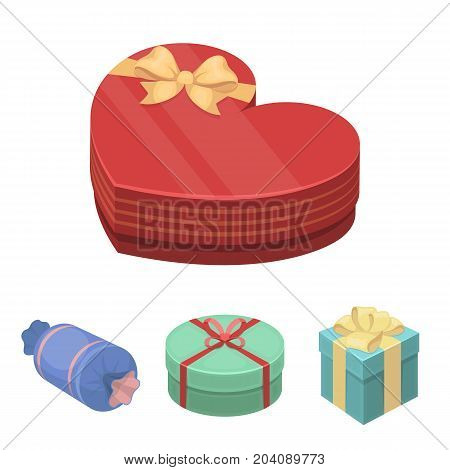 Gift box with bow, gift bag.Gifts and certificates set collection icons in cartoon style vector symbol stock illustration .