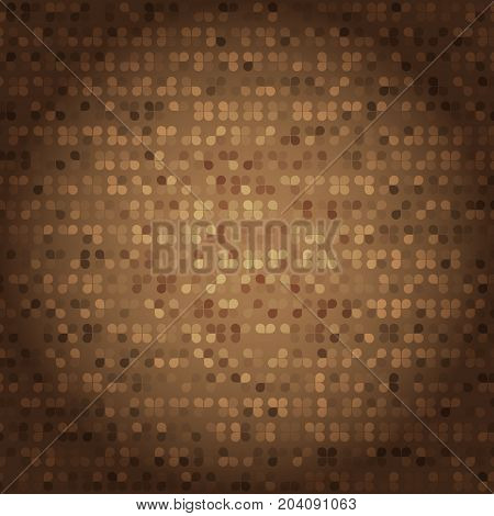 Created vintage style of brown mosaic texture stock vector