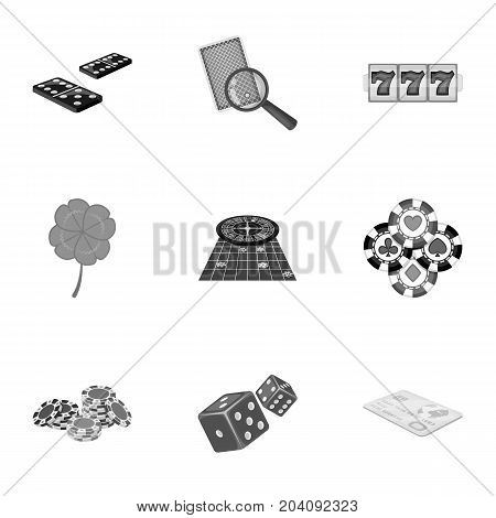 Hobby, entertainment, recreation and other  icon in monochrome style., Winning, excitement, casino, icons in set collection.