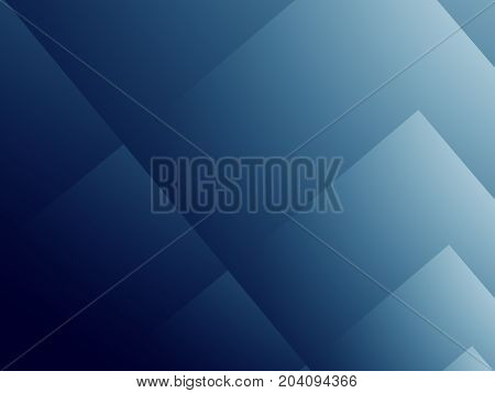 Dark blue modern abstract fractal art. Elegant background illustration with stylized rectangular shapes layered like folders or paper sheets. Professional business style. Creative graphic template.