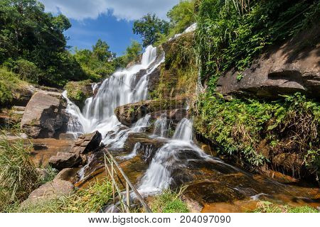 Mae Klang waterfall Doi Inthanon national park Chiang Mai Thailand
