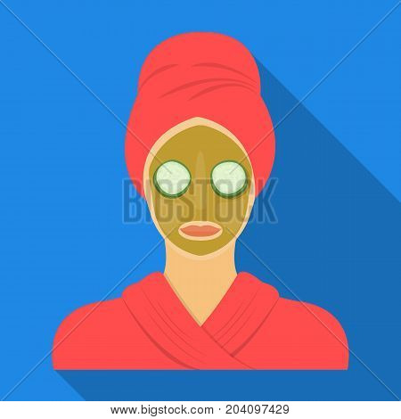 Mask, single icon in flat style.Mask, vector symbol stock illustration .